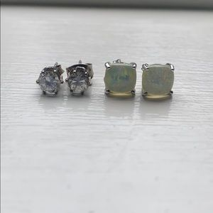 Faux Diamond and Opal Stud Bundle